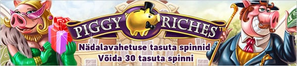Paf Piggy Riches tasuta jaanipäeva 30 spinni