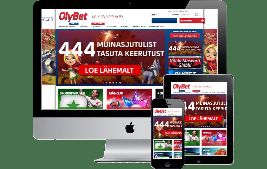 OlyBet Eesti tutvustus. Registreeri OlyBet Eesti konto ja saad €10 täiesti tasuta koheselt kontole.