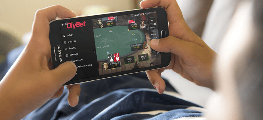OlyBet Pokker on saadaval ka mobiilis.