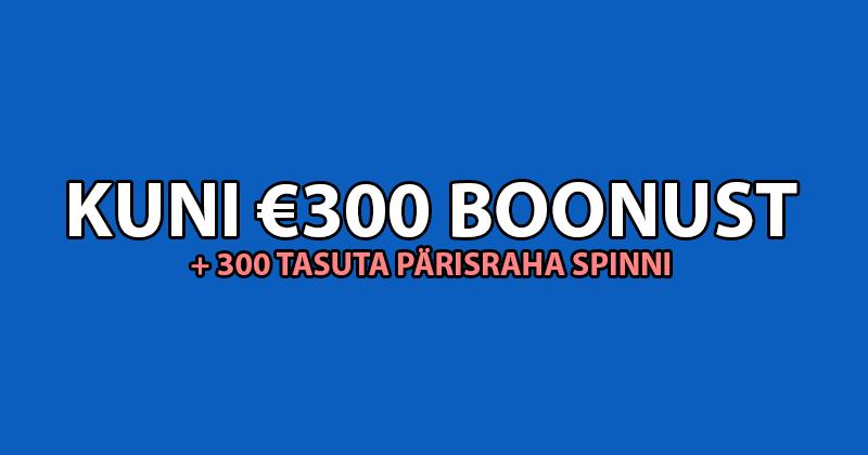 OlyBet'i kasiino boonus 2018 - kuni €300 boonust ja 300 tasuta pärisraha spinni