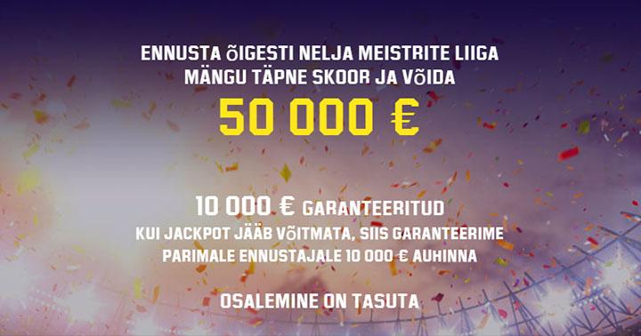 Võida €50 000 täiesti tasuta Unibet'i Meistritre Liiga ennustusmängus