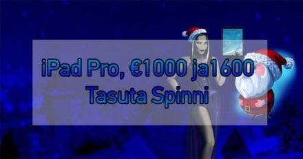 Kingswin'i jõuluturniiri auhinnafondis iPad Pro, €1000 ja 1600 tasuta spinni