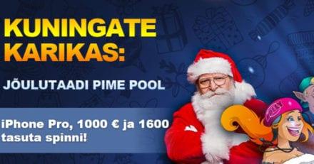 Kingswin'i jõuluturniir –  auhinnafondis iPhone Pro, €1000 ja 1600 tasuta spinni