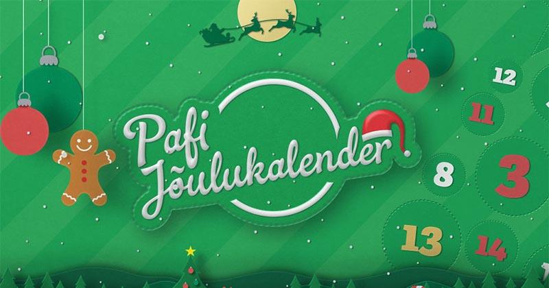 Paf'i jõulukalendris iga päev uus auhind ja lisaks eriauhinnad