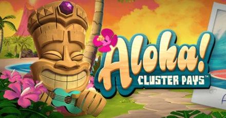 Täna Ninja Casino's 35 kuni 60 tasuta keerutust mängus Aloha! Cluster Pays