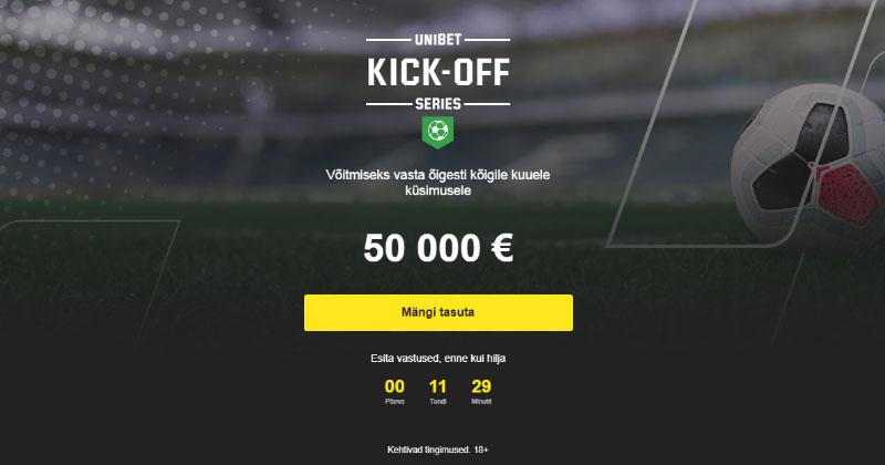 Võida Unibet'i ennustusmänguga €50 000 täiesti tasuta