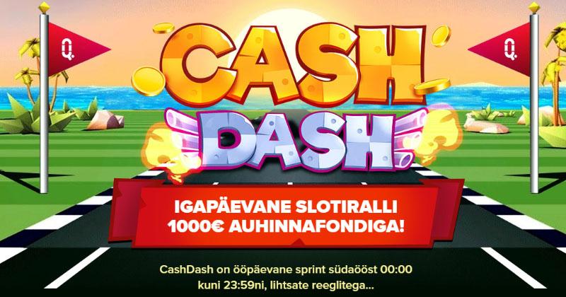 Optibet'i CashDash slotiralli – igapäevane €1000 auhinnafond