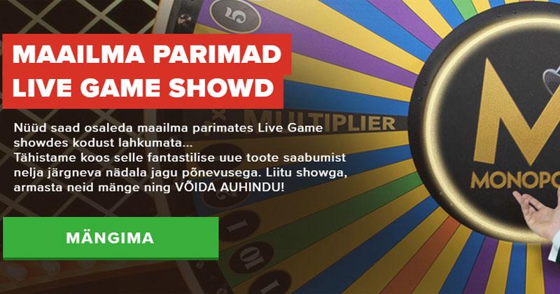 Optibeti Monopoly Live pakkumine – võida €500 pärisraha