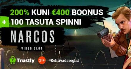Tonybet Trustly kampaania – 200% kuni €400 boonus + 100 tasuta spinni