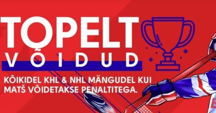 Olybet'i NHL & KHL kampaania – topelt võidud kui matš lõppeb penaltitega