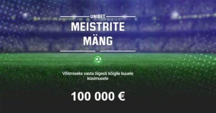 Võida Unibet'i ennustusmänguga €100 000 täiesti tasuta