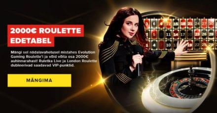 Optibet'i Evolution Gaming Roulette kampaania – jagamisele läheb €2000