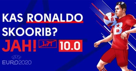 Olybet'i C. Ronaldo skoorib võimendatud 10x pakkumine