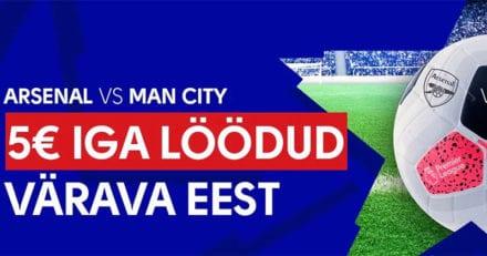 Olybet pakub €5 FREEBET iga löödud värava eest Man City – Man Utd mängus