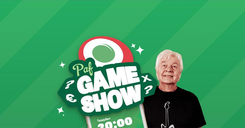 Paf Gameshow kampaania – võida tasuta spinne