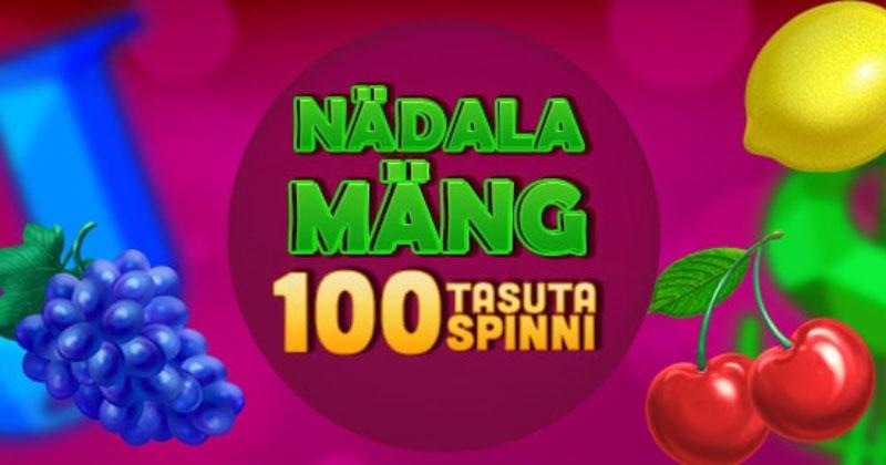 GrandX Casino nädala mängu kampaania – teeni kuni 100 tasuta spinni
