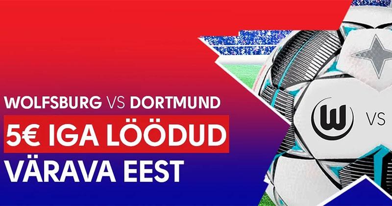 Olybet pakub €5 FREEBETi iga löödud värava eest Wolfsburg – Dortmund mängus