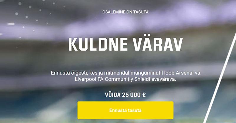 Võida Unibet'i ennustusmänguga €25 000 täiesti tasuta