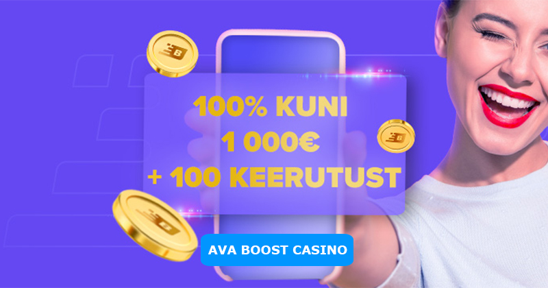 Boost Casino Boonus - 100% kuni €1000 boonust ja 100 tasuta spinni mängus Fire Joker.