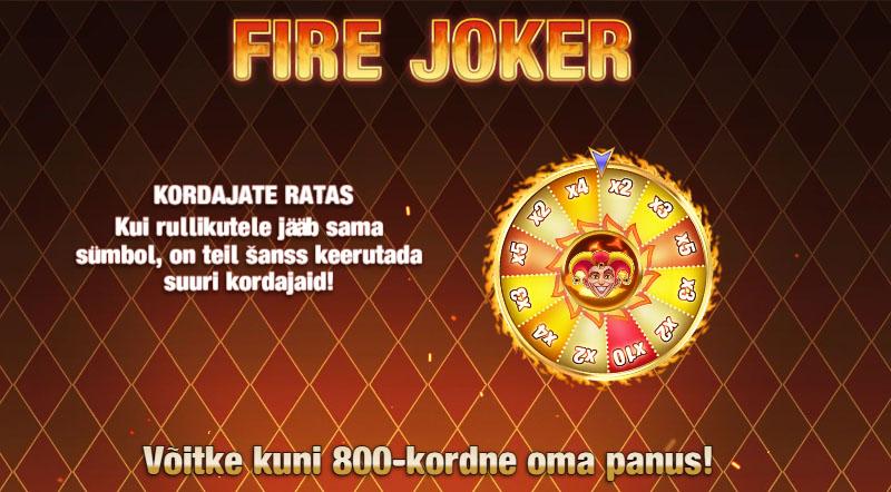 Boost Casino boonusega kaasa 100 tasuta spinni mängus Fire Joker