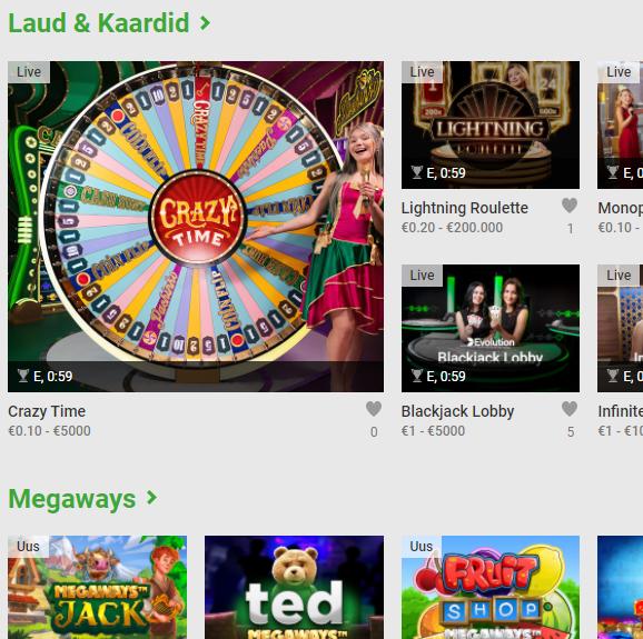 Unibet on üks vanimaid Eestis lubatud online kasiino, mis pakub laias valikus kasiinomänge, mänguautomaate, netipokkerit, online bingot ja spordiennustus.