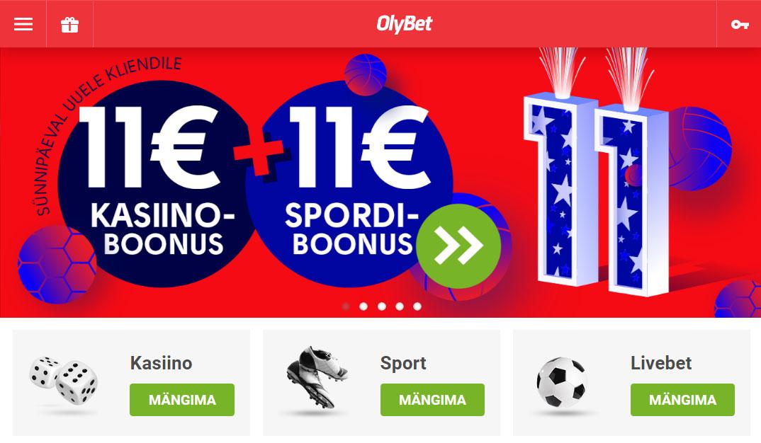 OlyBet kasiino veebileht on lihtne, mugav ja kõik kiiresti leitav. Täielikult kasutatav nii mobiilis, tahelarvutis kui ka desktopil.