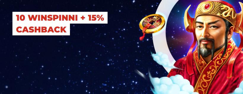 Optibeti WinSpinnide näide. Lihtsalt ava Optibet, logi kontole/ava kasutaja ning aktiveeri «Minu boonus» all pakkumine «10 WinSpinni ja 15% Cashbacki.» Pärast 20-eurost sissemakset lisatakse kontole 10 x €0.20 WinSpinni mängus Diamond Link. Antud mängus peale igast 20-sendist panust tagastatakse koheselt panus. Lisaks võidud jäävad mängijale ja nii 10 spinni ehk WinSpinni järjest. Tutvu kampaaniaga.