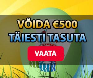Chanz lihavõttemunade jaht - korja mune ja võida €500. Osalemine täiesti tasuta.