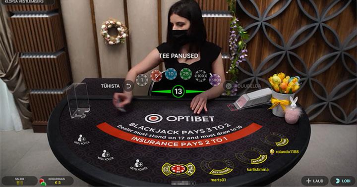 Optibeti Live Blackjack