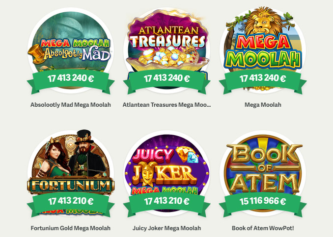 Kümnetesse miljonitesse eurodesse ulatuvad Paf slotimängude jackpotid.